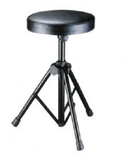 Keyboard and Drum Stool / Throne - black finish - padded seat & adjustable legs